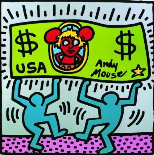 Andy Mouse (1986) by Keith Haring