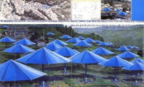 Umbrellas Blue I by Javacheff Christo