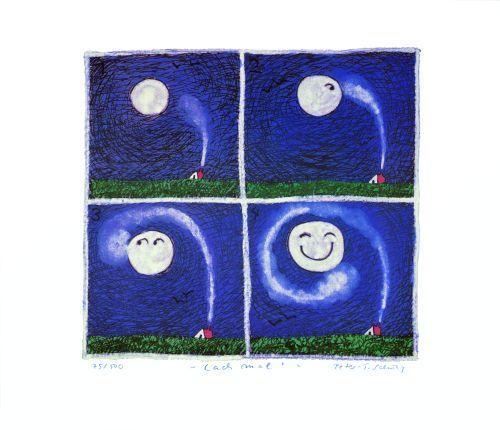 Lach mal ! (Seele und Mond) by Peter-T. Schulz