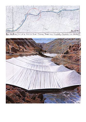 Over the River I Above by Javacheff Christo