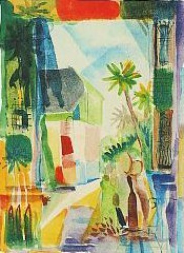 Gasse in Hilterfingen (1914) by August Macke