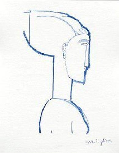 Female Head by Amedeo Modigliani