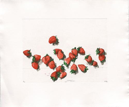 Strawberries, 2001 by Robert C. Rore