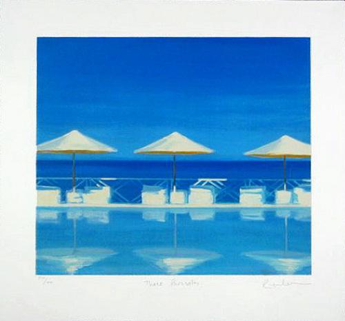 Three Parasols (2001) by Reuben Colley