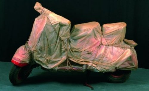 Wrapped Vespa, 1963-64 by Javacheff Christo