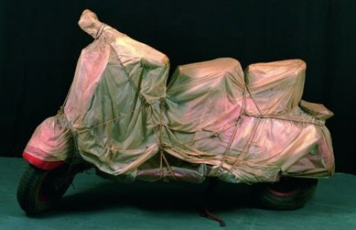 Wrapped Vespa by Javacheff Christo