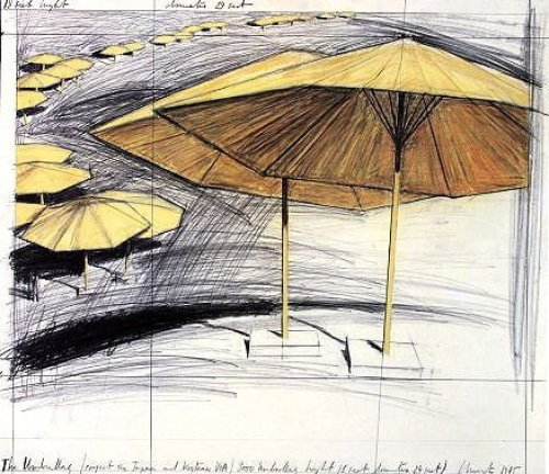Umbrellas Yellow III by Javacheff Christo