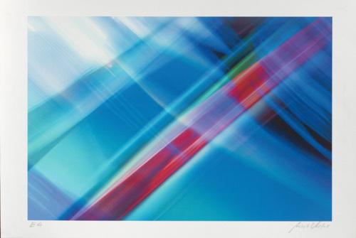 Composition Blau (2002) by Norbert Schaefer