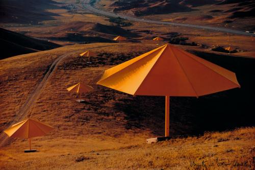 Yellow Umbrellas, 1984-91 by Javacheff Christo