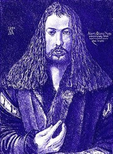 Blue Self Portrait by Albrecht Dürer