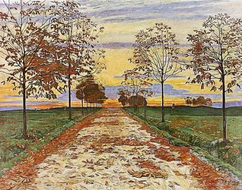 Herbstabend, 1892 by Ferdinand Hodler