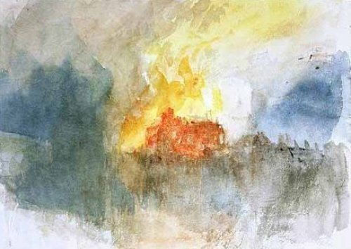 The Burning of the Houses of Parliament, 1834 by Joseph Mallord William Turner
