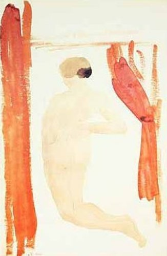 Femme nue dur le dos jambes écartées by Auguste Rodin