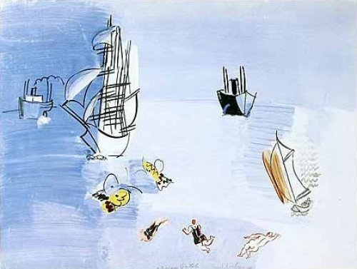 La Mer Vers, 1925 by Raoul Dufy