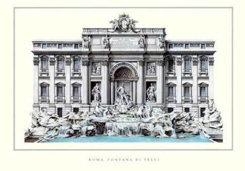 Rome - Fontana di Trevi by Architekturplakate