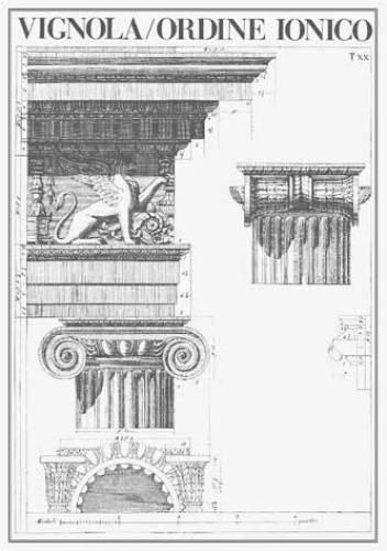 Vignola - Ordine Ionico by Architekturplakate