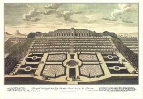 Schloss Sanssouci, 1750 by Johann David Schleuen