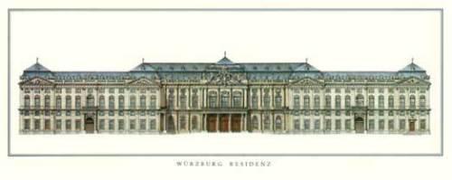 Würzburg - Residenz by Architekturplakate
