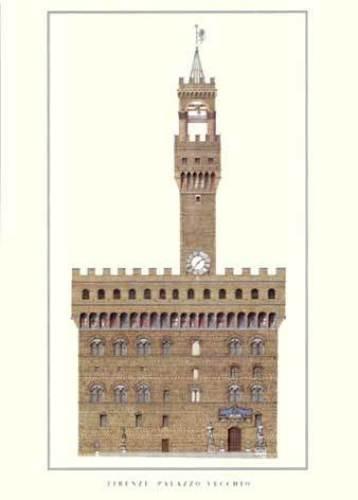 Florence - Palazzo Vecchio by Architekturplakate