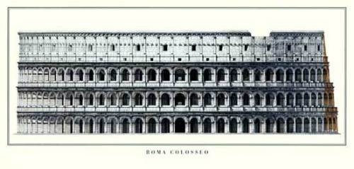Rome - Colosseo by Architekturplakate