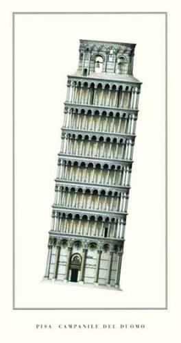 Pisa - Campanile by Architekturplakate