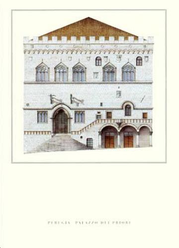 Perugia - Palazzo dei Priori by Architekturplakate