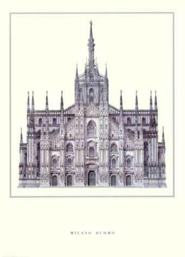 Milan - Duomo by Architekturplakate