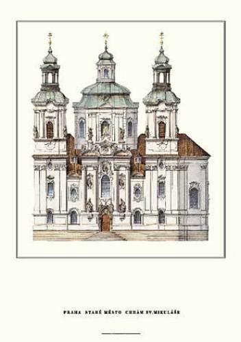 Prague - St. Niklas by Architekturplakate