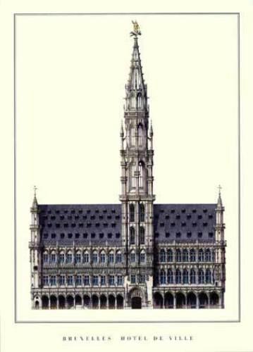 Bruxelles - Hôtel de Ville by Architekturplakate
