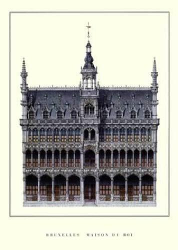 Bruxelles - Maison du Roi by Architekturplakate