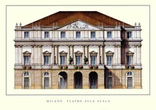 Milano - Teatro alla Scala by Architekturplakate