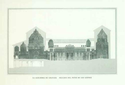 Granada - Löwenhof der Alhambra by Architekturplakate