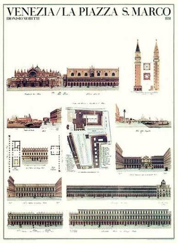 Venice - La Piazza S. Marco by Architekturplakate