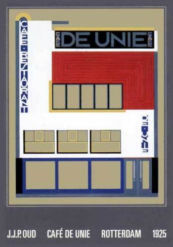 Café de Unie, Rotterdam, 1925 by Jacobus J.P. Oud
