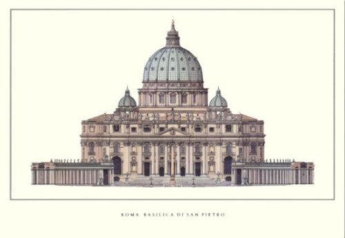 Rome - Basilica di San Pietro by Architekturplakate