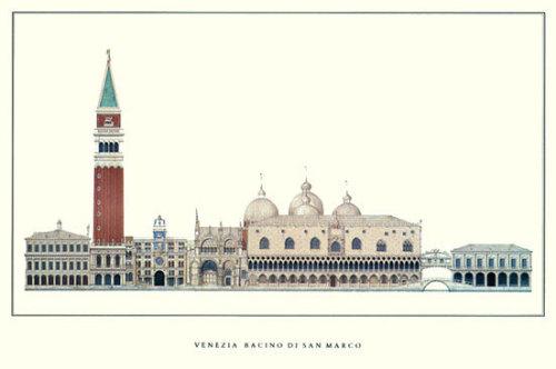 Venice - Bacino di San Marco by Architekturplakate