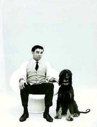 Yves Klein with Afghan Hound by Charles Wilp