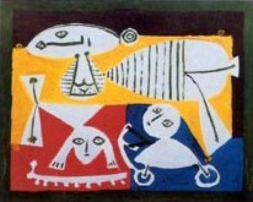Mother and Children Playing by Pablo Picasso