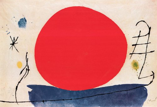 Untitled (Red Sun), 1967 by Joan Miro