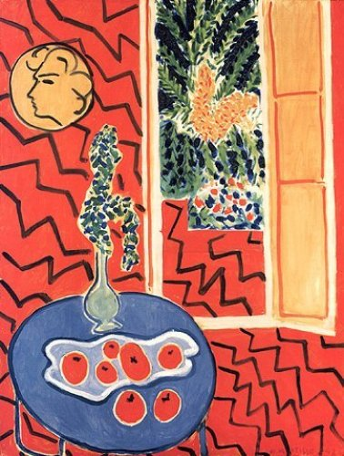 Red Interior, Still Life on Blue Table by Henri Matisse