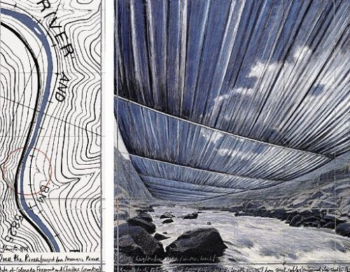 Over The River X, Project for Arkansas River by Javacheff Christo
