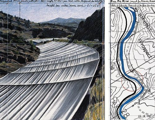 Over The River XI, Project for Arkansas River by Javacheff Christo