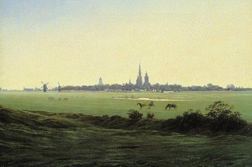 Wiesen bei Greifswald by Caspar David Friedrich