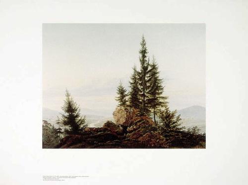 Ausblick ins Elbtal by Caspar David Friedrich