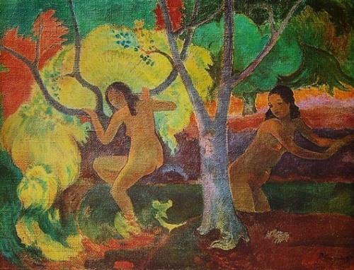 Girl Bathing by Paul Gauguin