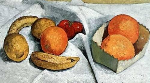 Stillleben Orangen, Bananen, Zitronen, Tomaten by Paula Modersohn-Becker