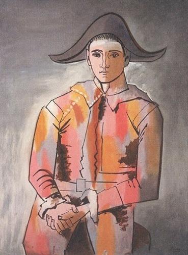 Arlequin, les mains Croisèe, 1923 by Pablo Picasso