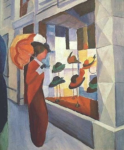 Hutladen by August Macke