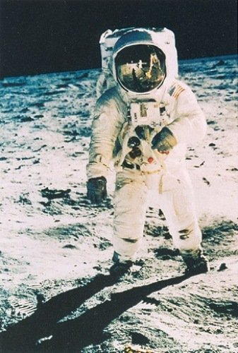 Astronaut Edwin Aldrin on the Moon, 1969 by Nasa