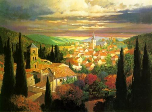 Village in the Sun by Max Hayslette
